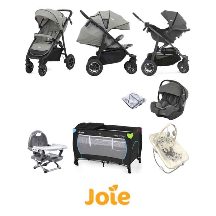 Joie MyTrax S (I-Gemm) Everything You Need Travel System Bundle