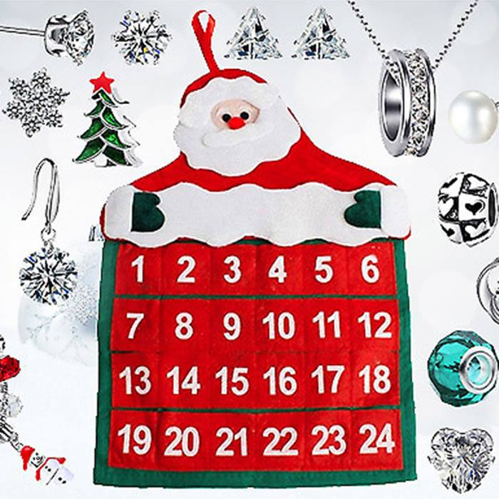 Jewellery Advent Calendar with Gifts made with Crystals from Swarovski