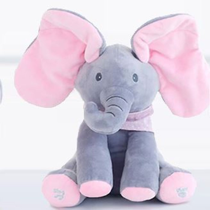 Go Groopie - Musical Peek-a-Boo Elephant Toy