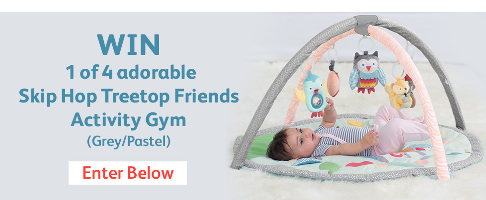 Win 1 of 4 adorable Skip Hop Treetop Friends Activity Gym in Grey/Pastel