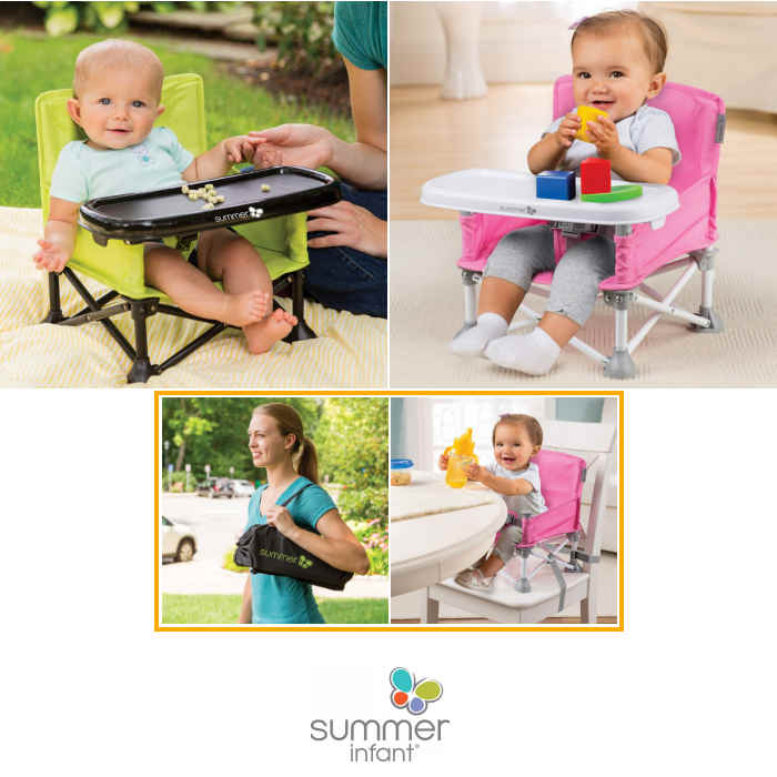 Summer Infant Pop n Sit Portable Highchair Booster Seat