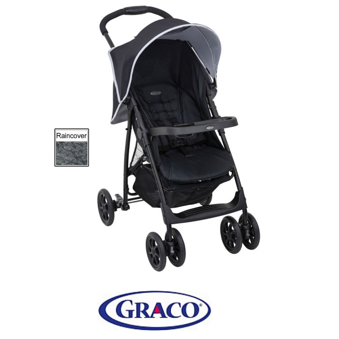 Graco Mirage Pushchair Stroller with Raincover - Shadow