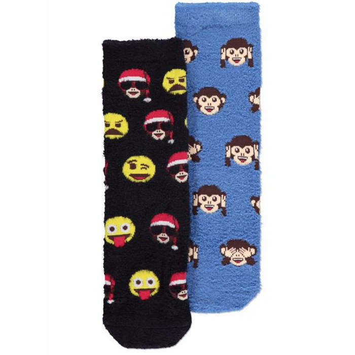 ASDA-Christmas emoji socks