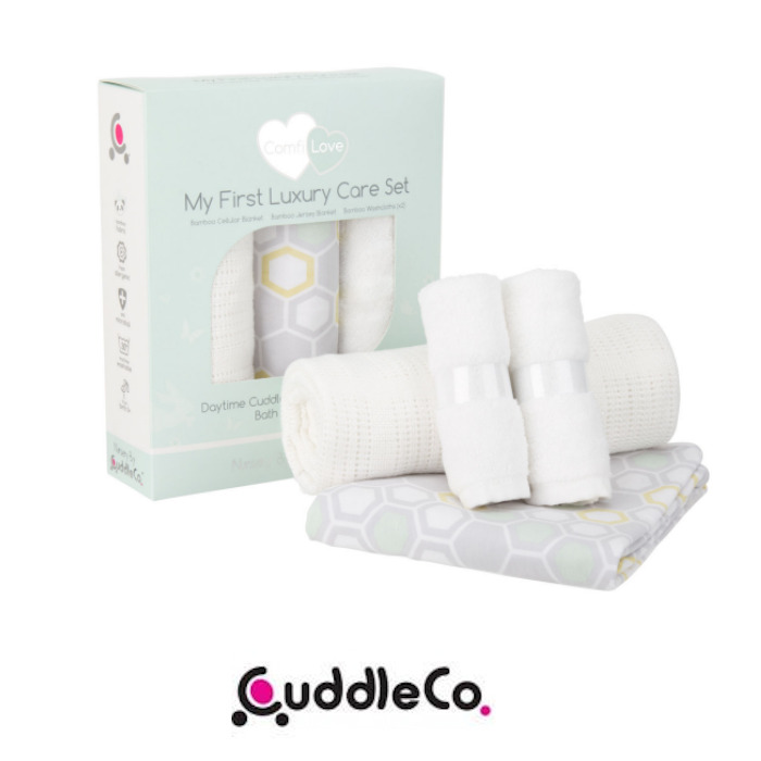 Cuddle Co Comfi Love My First Luxury 4 Piece Blanket & Washcloth