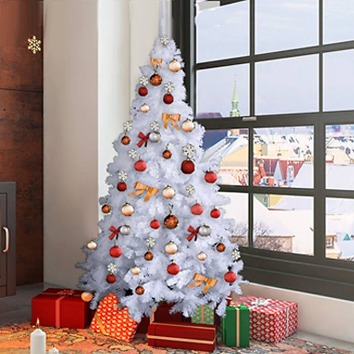 White Artifical Christmas Tree  4 Sizes