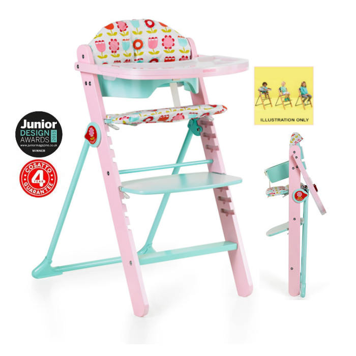 Cosatto Waffle Highchair 6 Months  12 Years  Heidi