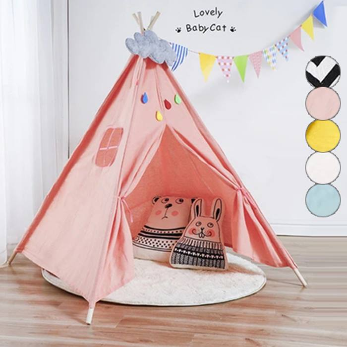 Kids Teepee Play Tent - 5 Colours
