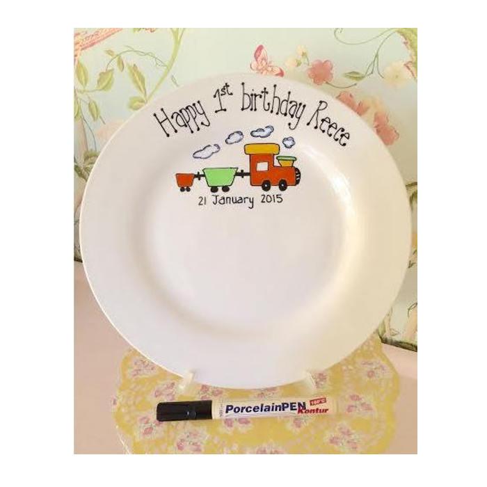 TEY Birthday plates