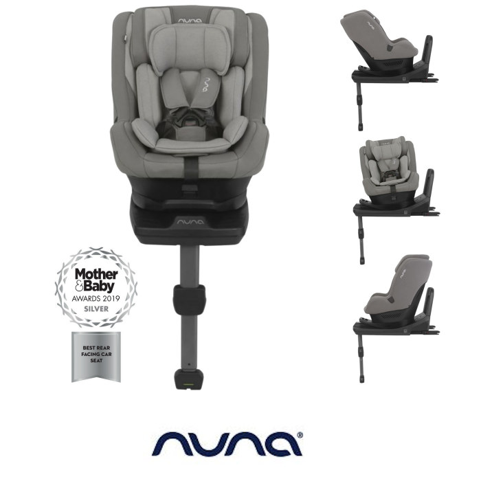 Nuna Rebl Plus Designer Group 01 iSize Isofix 360 Rotation Car Seat Frost