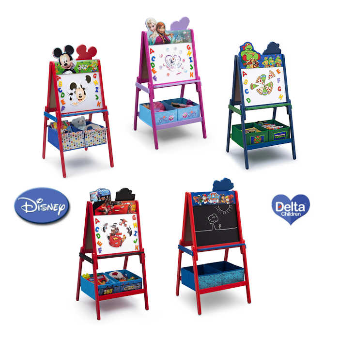 Delta Children Double Sided Wooden Art Easel With Storage