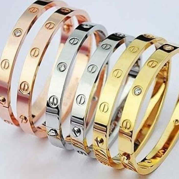Go Groopie - love screw bracelet