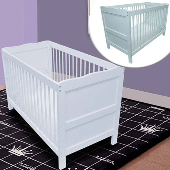 Baby Cot Bed with Optional Mattress - 2 Sizes