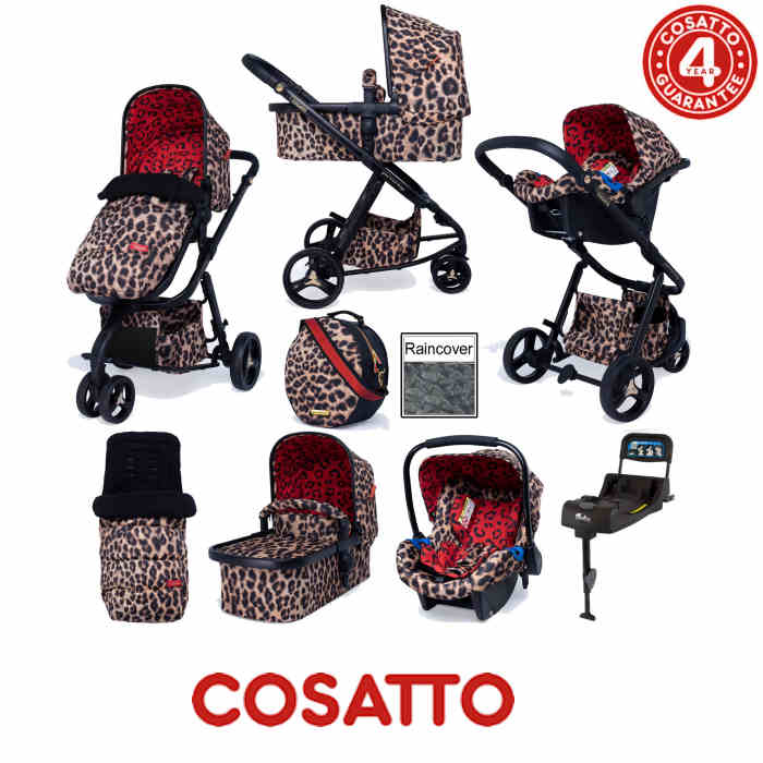 Cosatto Special Edition Paloma Giggle 3 Whole 9 Yards Port Isofix Bundle - Hear Us Roar