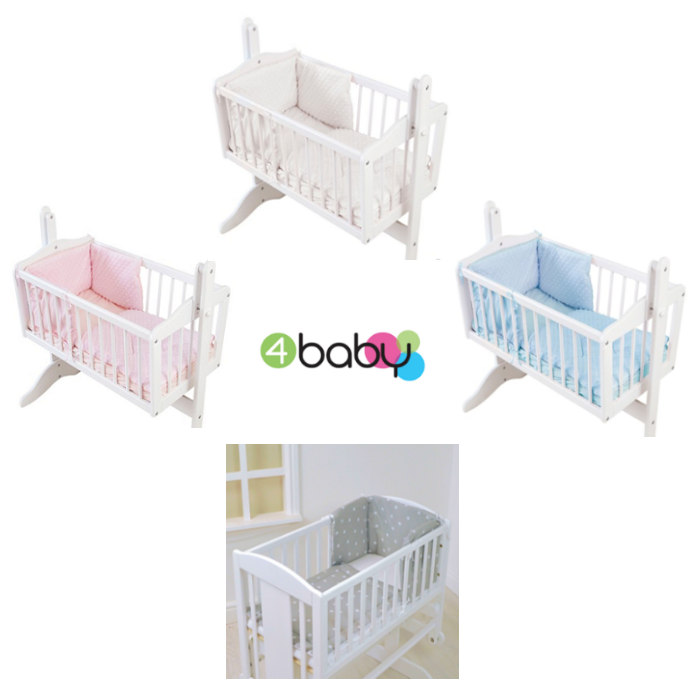 4baby Rocking Crib  Cradle Quilt  Bumper Set