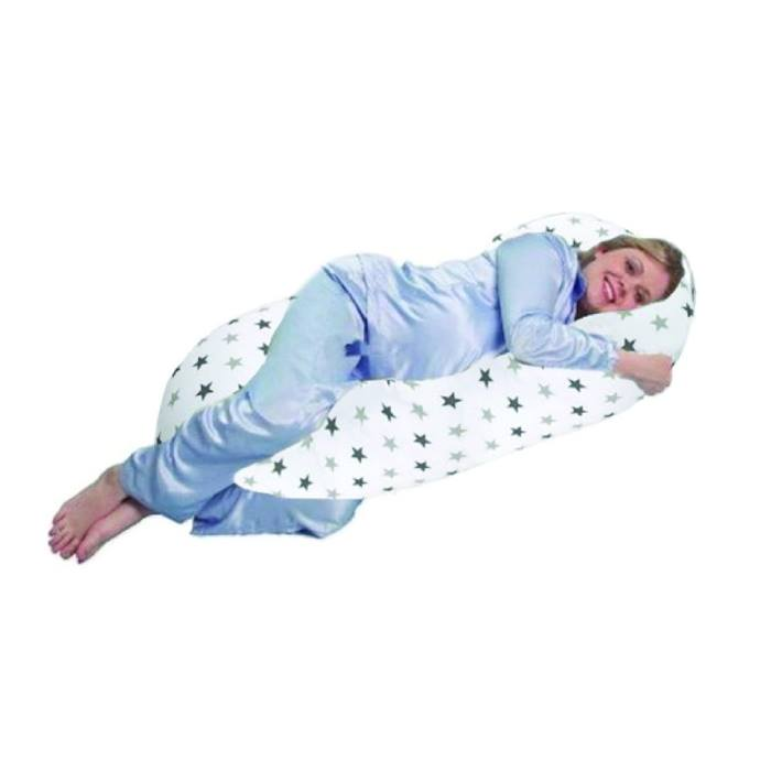 Cuddles Collection 5ft Body & Baby Support Pillow (Grey Twinkle)