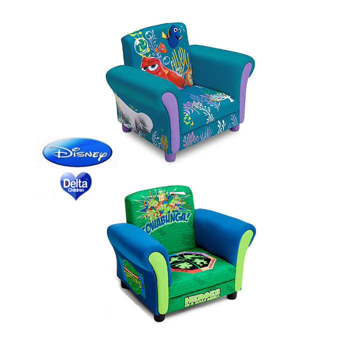 Delta Children Upholstered Chair - finding dory - teenage turtle