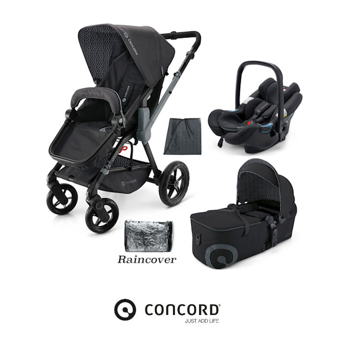 Concord Wanderer Mobility Set Travel System - Raven Black