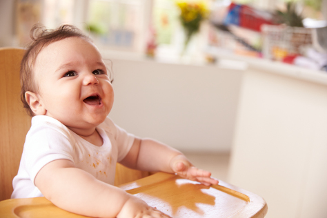 Baby development stimulating taste buds