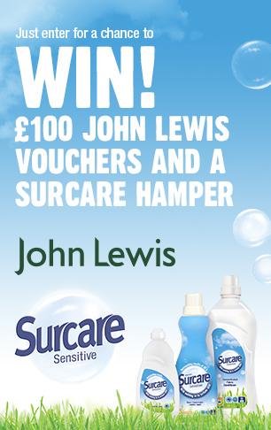 Win £100 John Lewis vouchers and a Surcare hamper