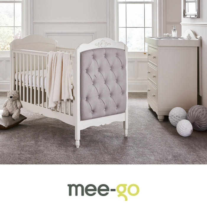 Mee-Go Epernay Cot Bed 4 Piece Nursery Furniture Set with Deluxe 4inch Foam Mattress