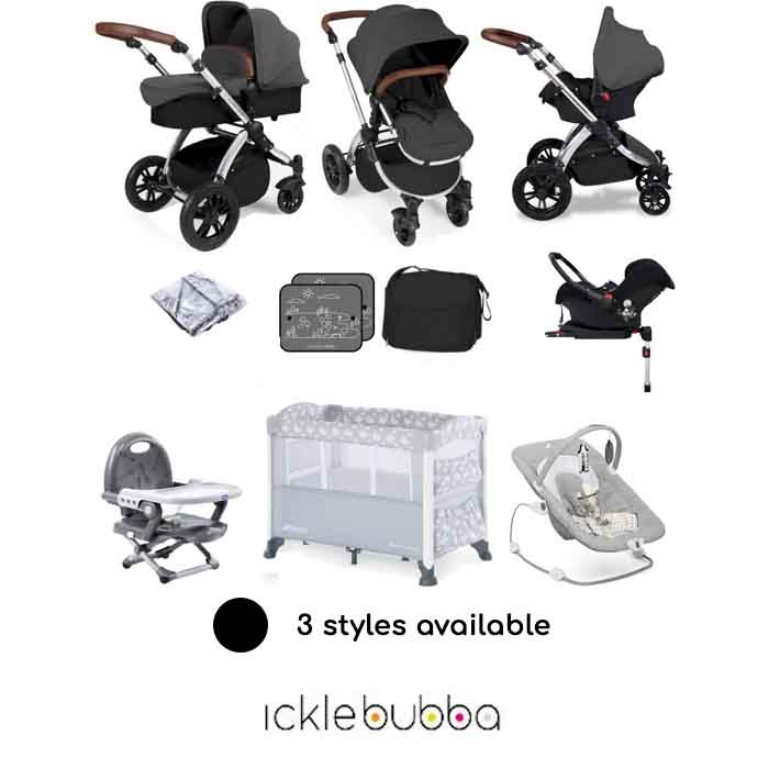 Ickle Bubba Stomp V3 (Galaxy) Everything You Need Travel System Bundle (With Base)