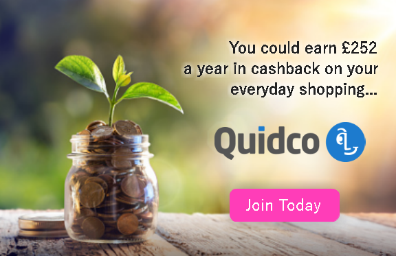You could earn £252 a year in cashback on your everyday shopping... Quidco - Join today