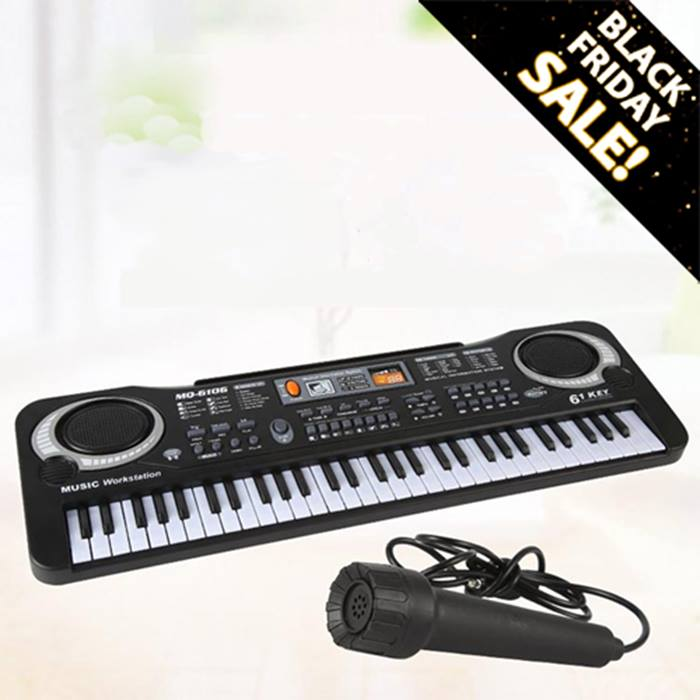 61-Key Electronic Keyboard With Microphone