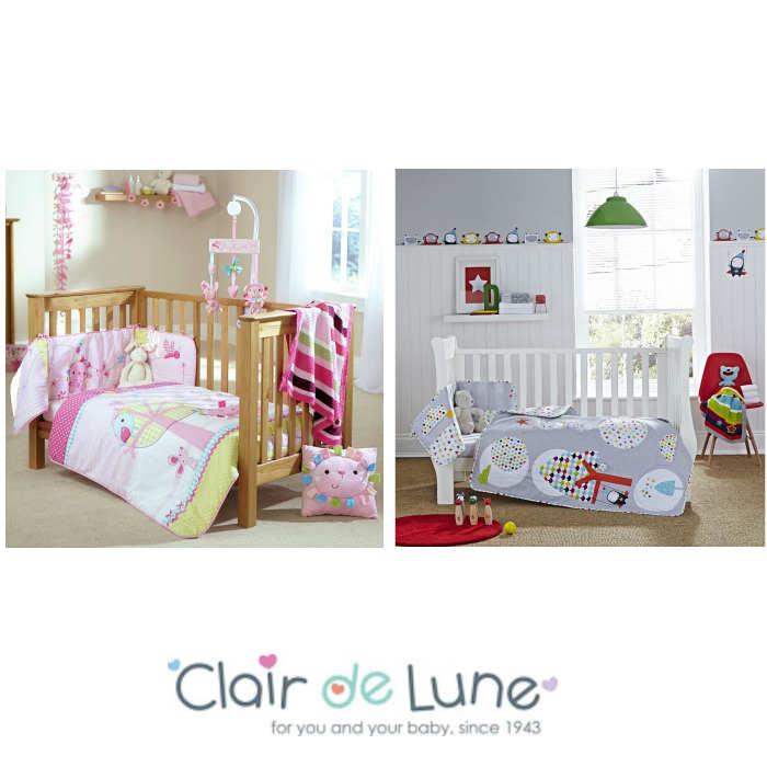 Clair De Lune Cot / Cot Bed Quilt & Bumper Set