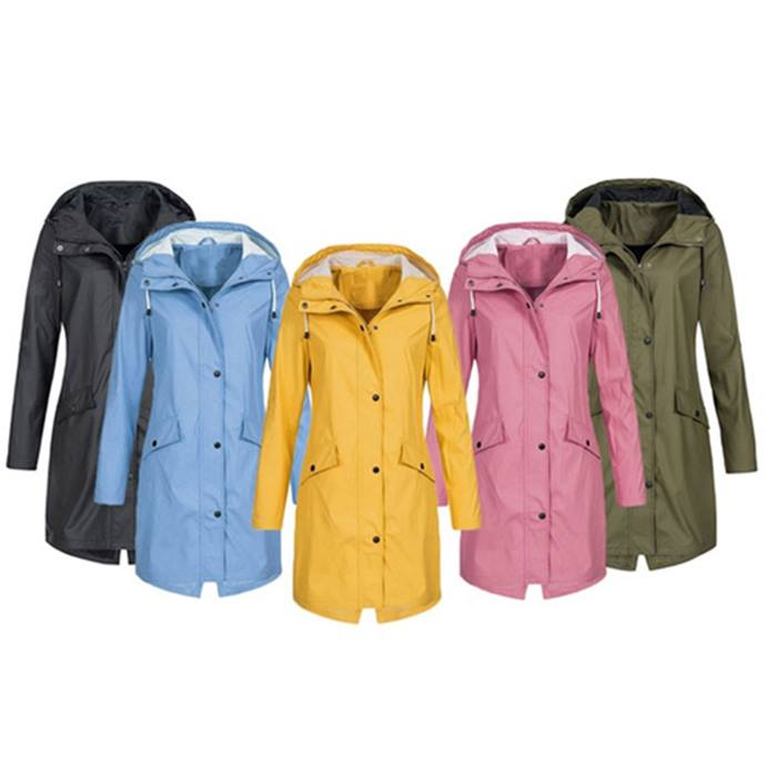 Windproof Long Raincoat
