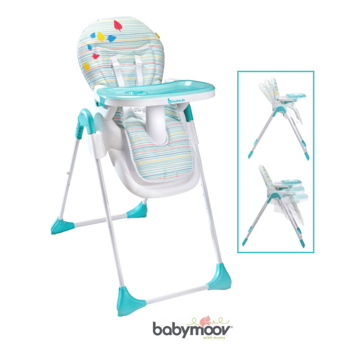 Babymoov Badabulle Easy Hi  Lo Highchair - Blue  Grey