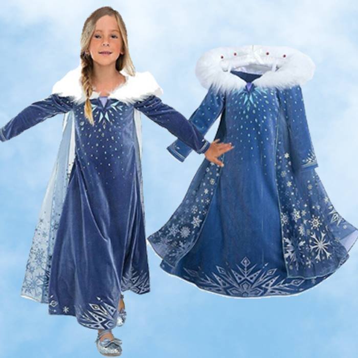 Ice-Queen Princess Dress and Cape - Ages 3-9