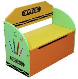 Kiddi Style Green Crayon Toy Box & Bench 250