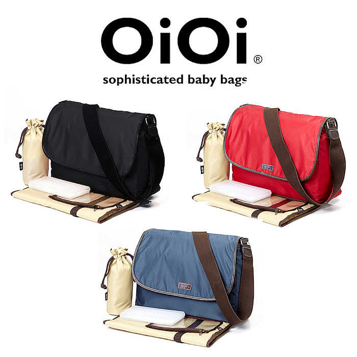 OiOi Twill Messenger Changing Bag