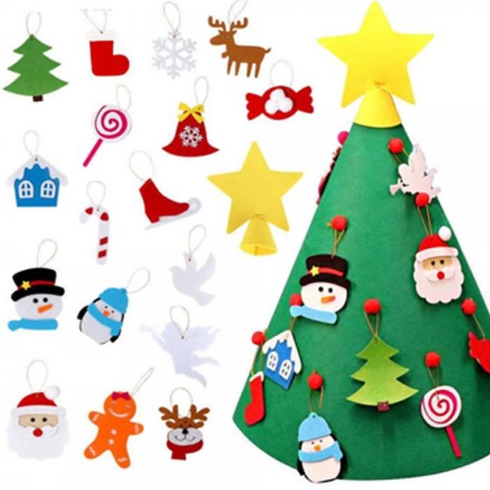 DIY 3D Felt Christmas Tree