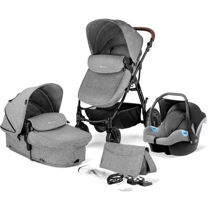 KinderKraft Moov Travel System (Grey Melange)