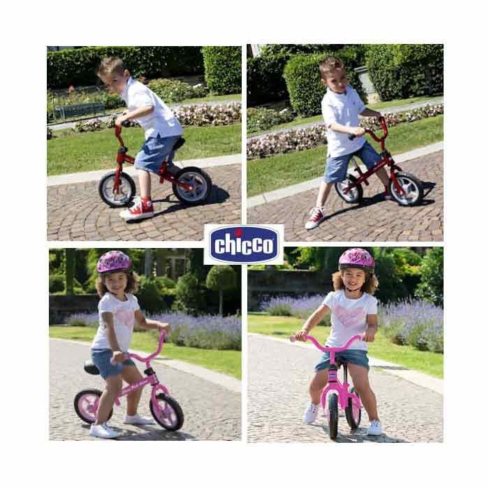 chicco-red-bullet-pink-arrow-balance-bike