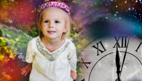 Little girl on new year