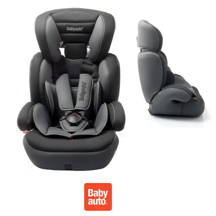 Babyauto Junior Trio Group 123 Car Seat - Black / Grey