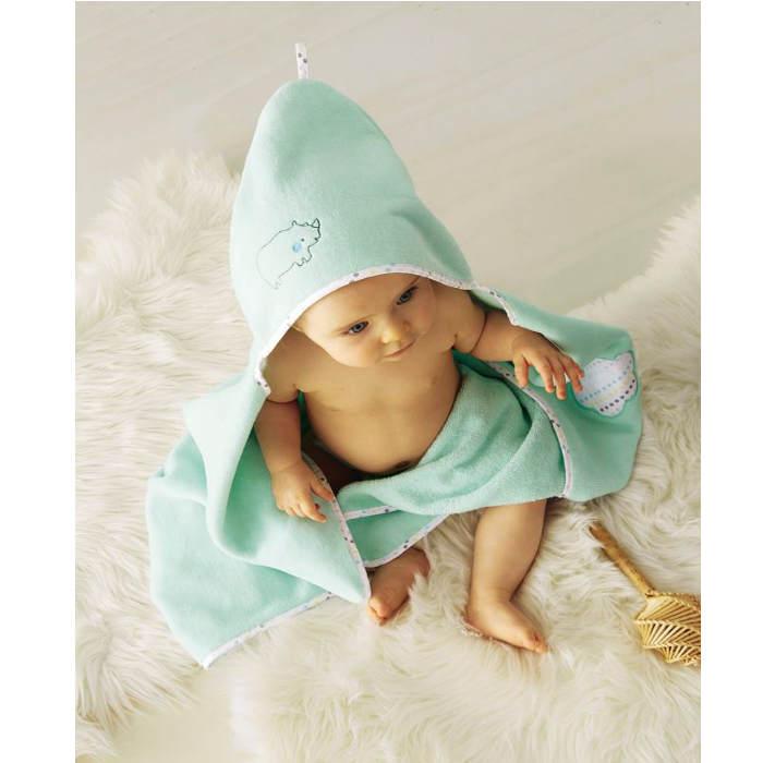 Spearmint Green bath cape