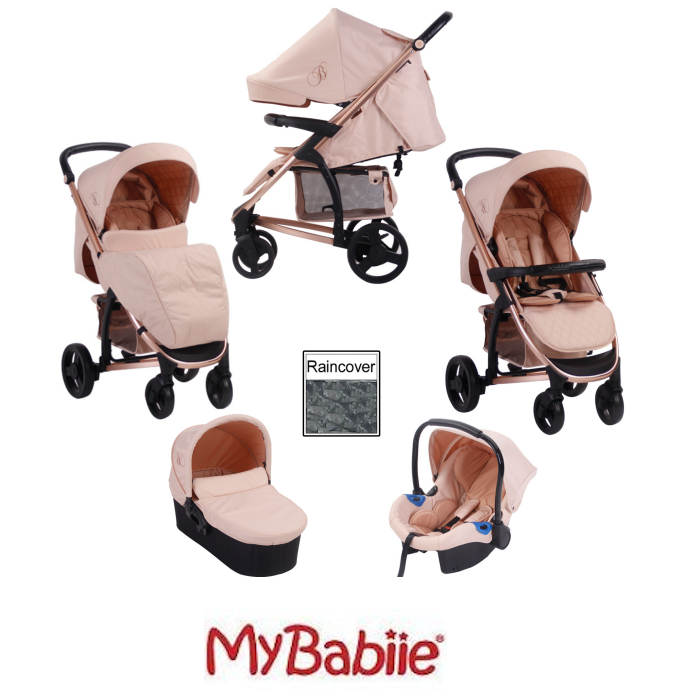 My Babiie MB200+ Billie Faiers Collection Travel System  - Rose Gold & Blush