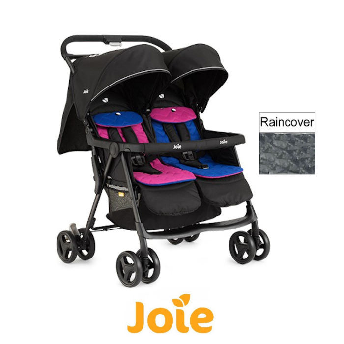 Joie Aire Twin Stroller  Pink  Blue