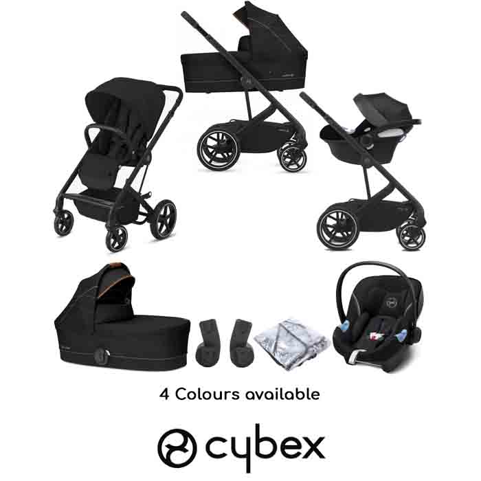 Cybex Balios S Lux Aton M iSize Travel System with Carrycot