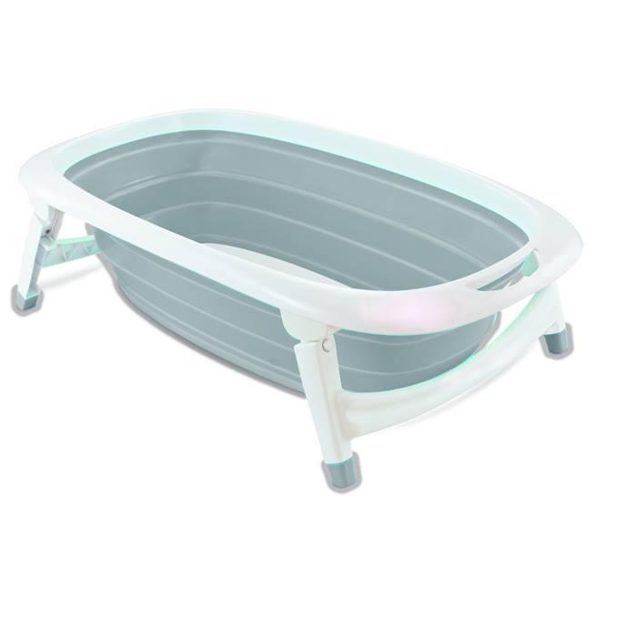 iSafe Flat Foldable Baby Bath (Grey)
