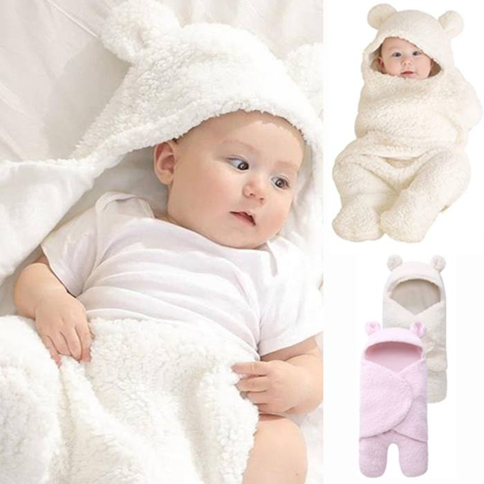 1 or 2 Newborn Thermal Swaddling Baby Blankets - 2 Colours