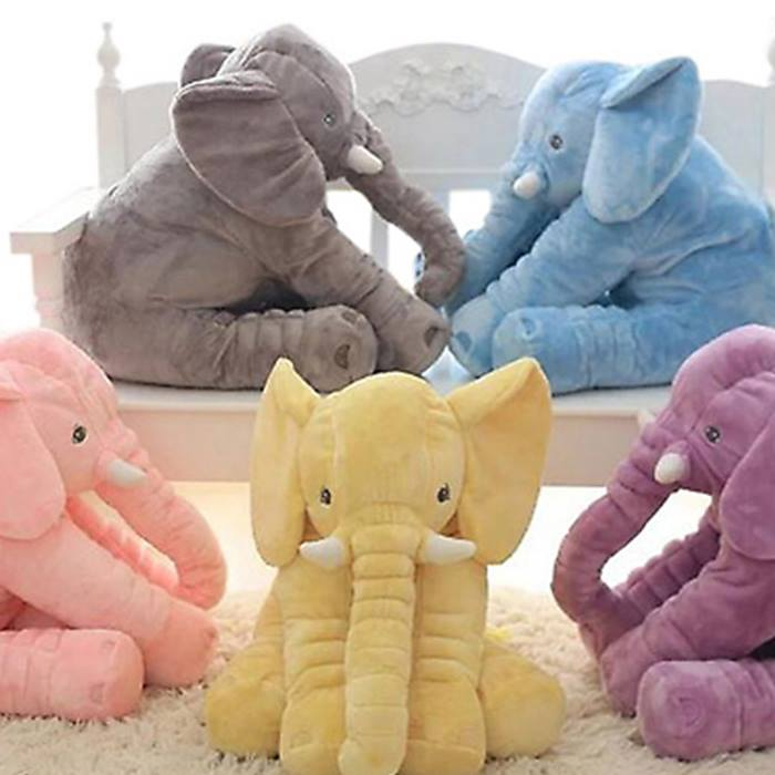 Baby Elephant Lumbar Pillow (5 Colours) - Small or Large