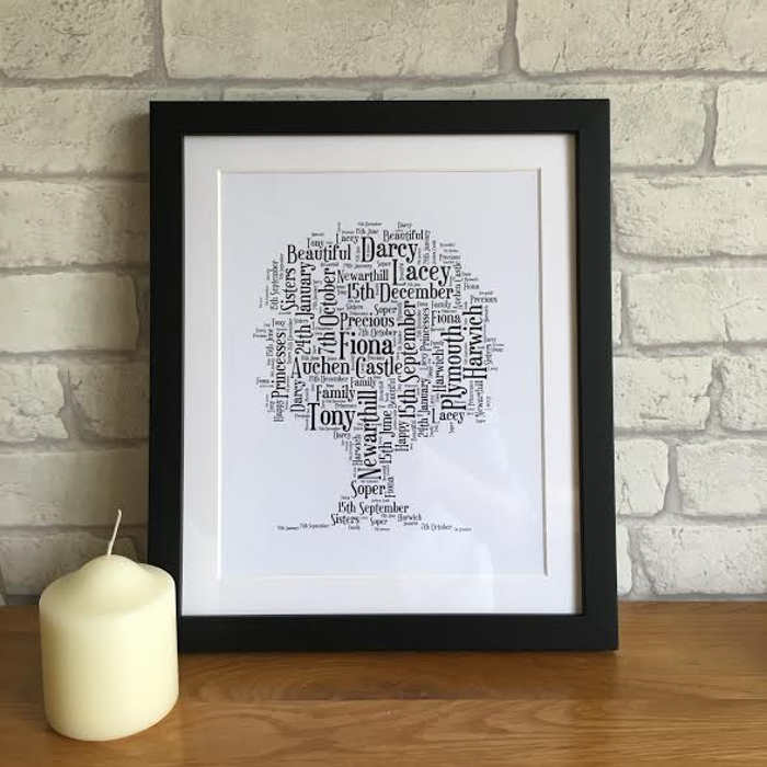 family tree picture print