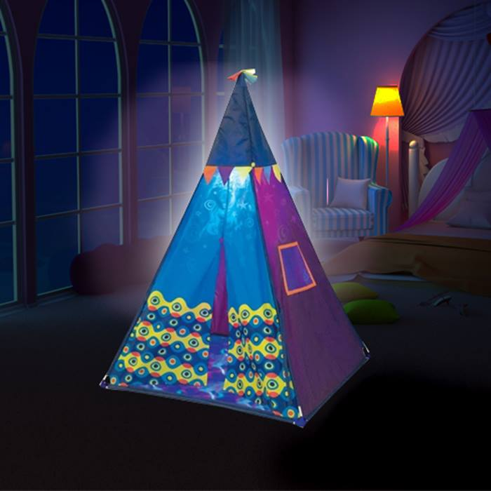 Kids Teepee Play Tent with Built-In Light
