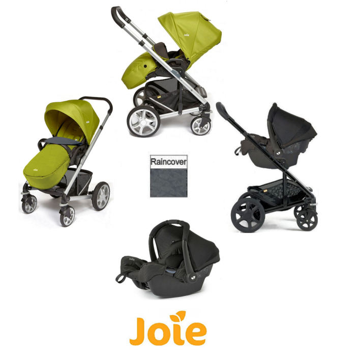 Joie Chrome Plus Silver Frame Gemm Travel System - Green