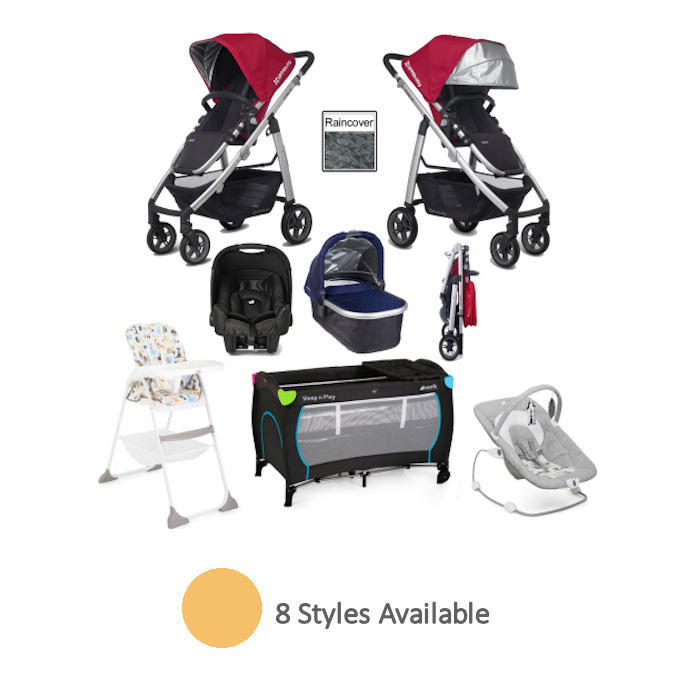 Uppababy Cruz Everything You Need Travel System Carrycot Bundle