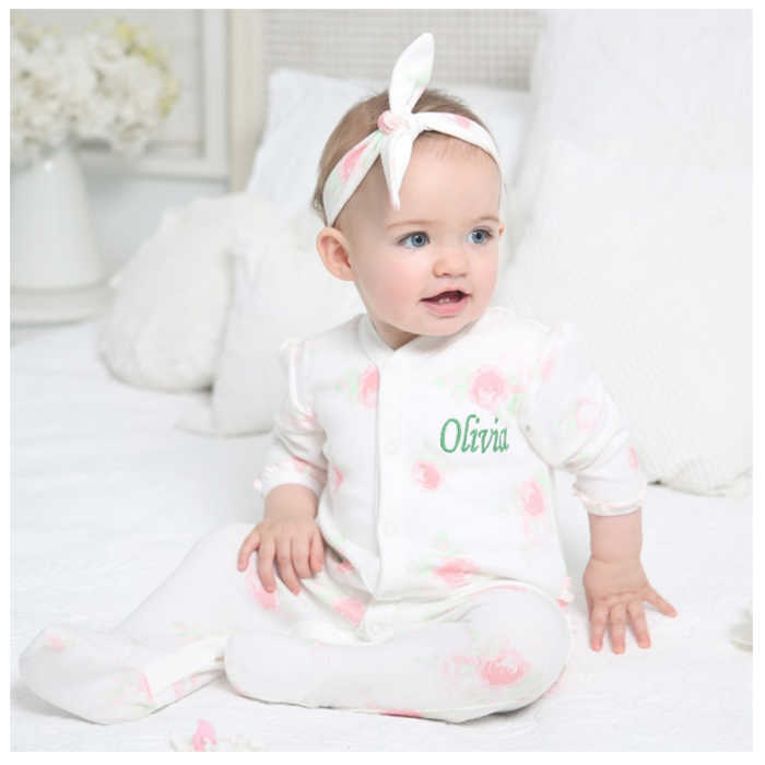 frilly-floral-sleepsuit